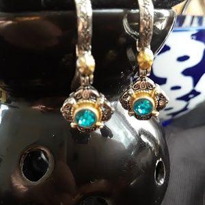💦 Vintage Aqua drop earrings.💦